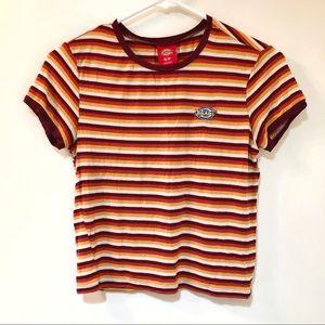 💥Dickies stripes tee/t-shirt. Short Baby tee.